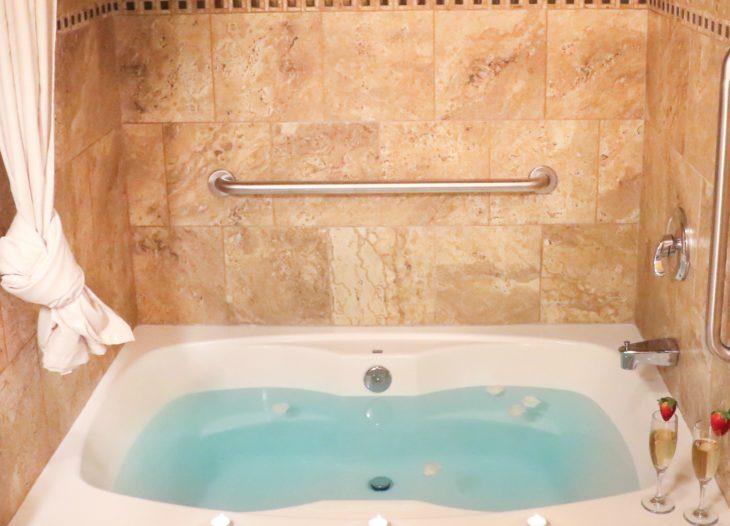 double soaking tub